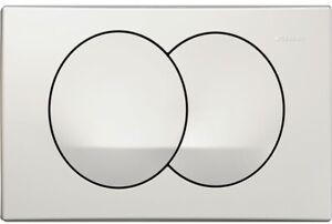 GEBERIT DELTA 20 TOILET DUAL FLUSH PLATE ALPINE WHITE BATHROOM CONCEALED CISTERN