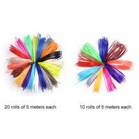 20Color 1.75mm/5m Modeling PLA/ABS Print Filament For 3D Drawing Printer Pen SUR