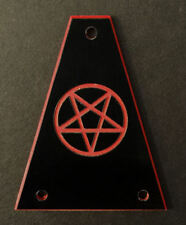 Engraved Etched GUITAR TRUSS ROD COVER Fits JACKSON - PENTAGRAM 666 - BLACK RED