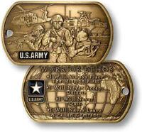 NEW U.S. Army Warrior Ethos Dog Tag with Chain.