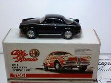 TOGI #3 ALFA ROMEO GIULIETTA SPRINT 1954 - BLACK 1:23 - EXCELLENT IN BOX