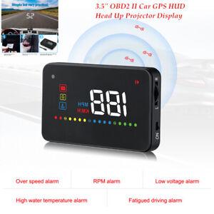 """3.5""""OBD2 II Car GPS HUD Head Up Projector Display Speedometers W/Slip mat Kit"""