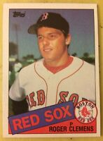 1985 Topps Roger Clemens Rookie (RC) Baseball Card #181 Red Sox High Grade O/C