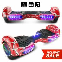 """6.5"""" LED Bluetooth HooverBoard Self Balancing Electric Scooter Red Spider No Bag"""