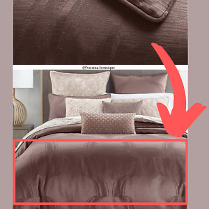 NIB $335 Hotel Collection Contour Duvet Cover in Full/Queen Brown #D270