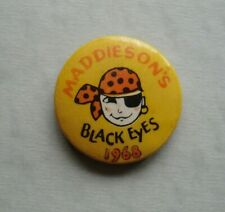 More details for 1968 maddiesons black eyes pirate holiday camp old steel badge