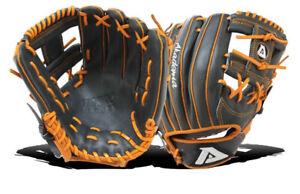 Akadema AKT19 Torino Series Baseball Glove Size: RHT Black/Orange