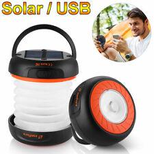 Solar LED Camping Lantern Outdoor Portable Flashlight USB Charger Power Bank Kit