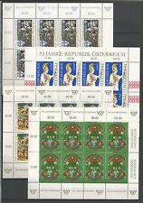 Österreich Kleinbogen LOT 1993 - 1995 postfrisch (4 Kleinbögen)