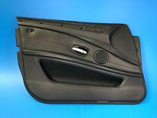 08 09 10 BMW E60 M5 LCI FRONT LEFT DRIVER SIDE DOOR PANEL BLACK LEATHER