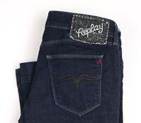 Replay Damen Teena Bootcut Stretch Jeans Größe W30 L34 AVZ759