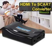 Adattatore audio convertitore video composito da HDMI a SCART con cavo USB  S1R1