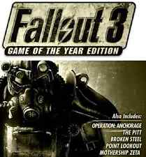 Fallout 3 Game of the Year Edition PC (GOTY) [Steam CD Key] No Disc Region Free