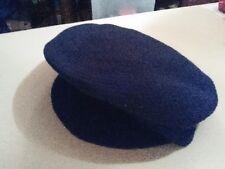 NWT Made Of Me Black News Paper Boy Cap Cabbie Hat Beanie Beret Retail $24