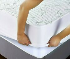 Bamboo Mattress Protector Waterproof Soft Hypoallergenic Fitted Cover Pad Sizes
