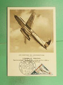 DR WHO 1956 MONACO FDC FLIGHT MAXIMUM CARD OVPT TRIANGLE AIRPLANE  f94807