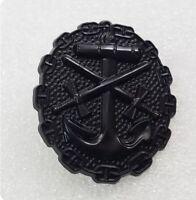 WWII German Naval Wound, Black Badge Order medal Pin Replica