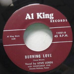 Doo Wop Soul 45 Love Lords Burning Love Scarce 70's issue Al King 11021 Simmer