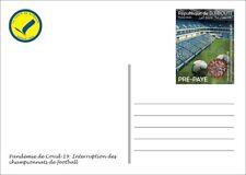 DJIBOUTI 2020 STATIONERY PREPAID - SOCCER FOOTBALL LEAGUES INTERRUPTION PANDEMIC