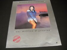 Vanessa Williams one million and growing 1992 Promo Poster Ad mint condition