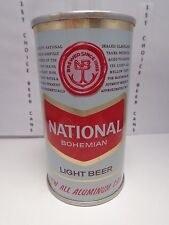 NATIONAL ALL ALUMINUM STRAIGHT 3PC FAN PULL TAB BEER CAN #96-36  BALTIMORE, MD.