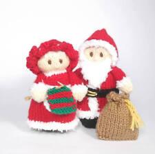 Babbo Natale e la Signora Claus Bitsy bambole Knitting Pattern