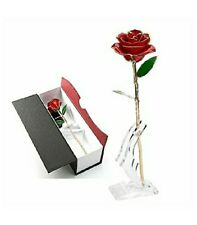 24k Gold Dipped Red Rose Real Flower Preserved Valentines Anniversary Gift