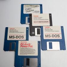 Vintage Toshiba T1000SE Oem Software 3.5 Diskettes