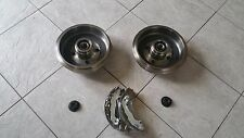 FORD FOCUS  ESTATE 98-- TWO REAR BRAKE DRUMS WITH FITTED BEARINGS   BRAKE SHOES