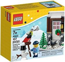 Lego 2 X Winter Fun Snowman Set No 40124 & 40093 1st Class Delivery