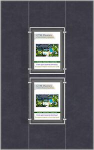 A4 LED Single Sided Pockets - Portrait 1x2 Display
