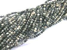 Picasso Jaspis 4mm Perlen rund Schmuckperlen Edelstein 1 Strang