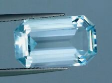 VVS 11.70 CT Natural Aquamarine Gemstone Emerald Cut From Pakistan