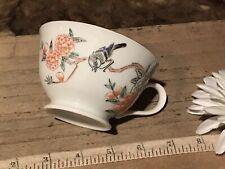 "Antique Vintage Asian Porcelain Tea Cup Famille Rose 4 1/2""x2 1/8"" Marked"