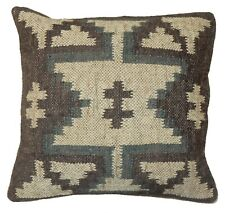"Handmade Indoor Outdoor Chair Decor Pillow Throw 18"" Vintage Kilim Cushion Cover"