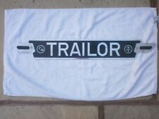 GREAT BRITAIN ENGLAND TRAILOR FOR VINTAGE TRUCK # ON TOW RARE LICENSE PLATE