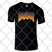 DOOM Super high quality premium black regular T Shirt