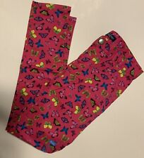 CHILDRENS PLACE Girls Size 12 Butterfly Pink Jeggings Jeans Pants Brand New NWT