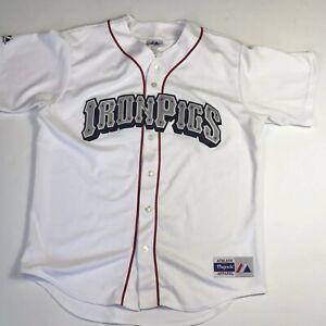 Lehigh Valley IronPigs Majestic Stitched Jersey Philadelphia Phillies Men's L