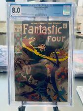 Fantastic Four #83 CGC 8.0 Inhumans Appearance Stan Lee Jack Kirby Free Ship