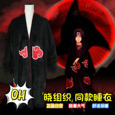 Naruto Akatsuki Uchiha Itachi Flannel Nightgown Cosplay Bathrobe Sleepwear Robes