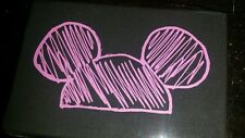 New Disney Parks Black & Purple Mickey Ear Hat 2 Sided Kisslock Clutch Purse Bag