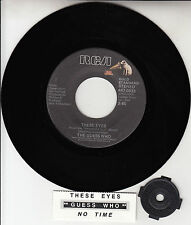 """THE GUESS WHO  These Eyes & No Time 7"""" 45 rpm record NEW + juke box title strip"""