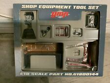 Pair of G.M.P 1/18 Professional Shop Equipment Sets - G1800144 and G1800145