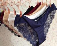 Women Seamless Lace G-string Briefs Panties Thongs Lingerie Underwear Knickers