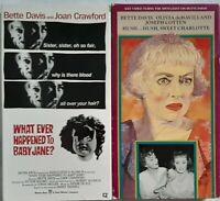 HUSH HUSH SWEET CHARLOTTE & WHAT EVER HAPPENED TO BABY JANE VHS BETTE DAVIS