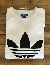 Sudadera logo ADIDAS originals oversize trefoil 3 stripes crewneck sweatshirt S