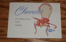 1958 Chevrolet Car Accessories Sales Brochure 58 Chevy Impala
