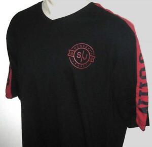 NEW 4XB SEAN JOHN MENS T SHIRT Tee Black Red Short Sleeve 4XL 4X