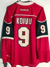 Reebok Premier NHL Jersey Minnesota Wild Mikko Koivu Red sz M
